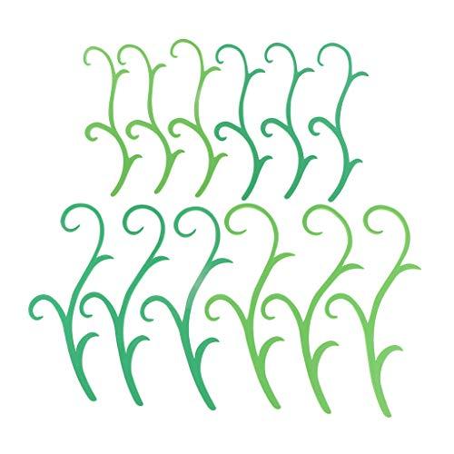 B Baosity 緑の枝 籐 スポンジ ウォールステッカー 子供 おもちゃ 絵画芸術 手作り 約12個入り