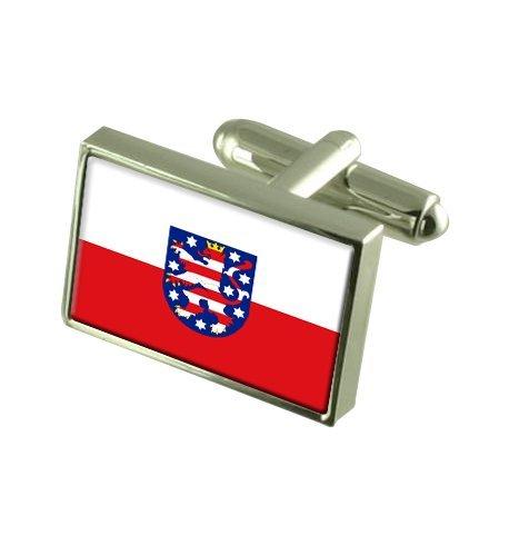 Thuringe Boutons de manchette drapeau avec select pochette cadeaux