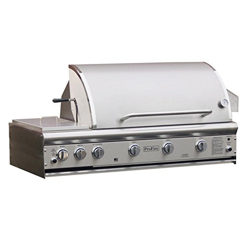 Hybrid Natural Gas Grill - Profire Professional Deluxe Series 48-inch Built-in Infrared Hybrid Natural Gas Grill With Rotisserie & Double Side Burner - Pfdlx48rsih-n