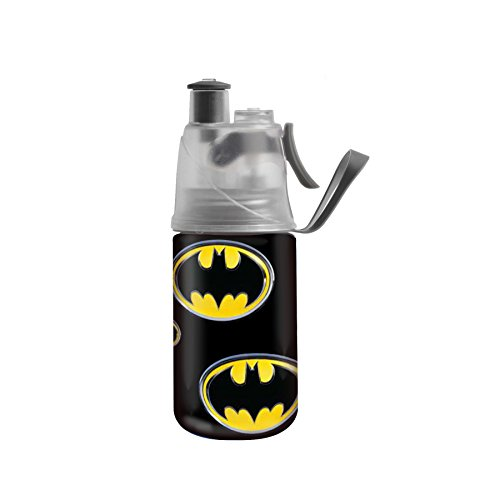 O2COOL HMCC137 Kids ArcticSqueeze Mist 'N Sip Batman Bottle (12 oz.)