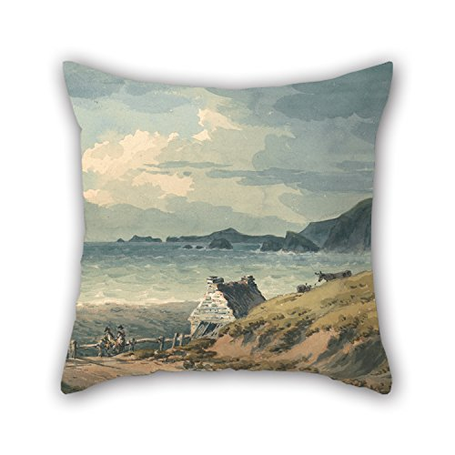 Loveloveu Oil Painting John Warwick Smith - The Northern Boundary Of St. Bride's Bay Pillowcase 20 X 20 Inches / 50 By 50 Cm Gift Or Decor For Husband,chair,home Theater,family,adults,kids - Square Northern Pillow