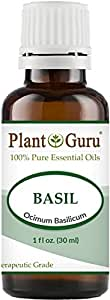 Basil Essential Oil 30 ml (1 oz) 100% Pure Undiluted Therapeutic Grade.