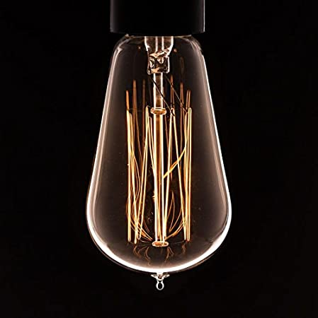 Vintage light bulb squirrel cage filament old fashioned edison e27 screw