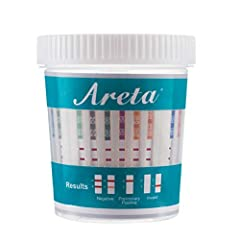 You will receive:5 Pack Individually Wrapped Areta 14 panel instant Drug Test Cup plus temperature strip. The Drug Test Cup tests instantly for 14 Different Drugs: Marijuana (THC),Cocaine (COC),Opiate (OPI 2000),Methamphetamine (MET),Oxycodon...