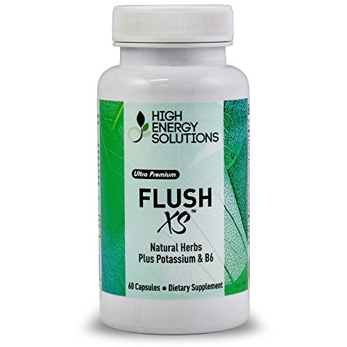 Potassium Sparing Diuretic (Flush XS | Natural Herbal Diuretic with Potassium And B-6 By High Energy Solutions - Flushes Excess Fluid From the Body - 60 Capsules - GMP - USA - 100%)