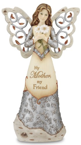 Pavilion Gift Company Elements 9-Inch Angel Holding Daisies, My Mother My Friend
