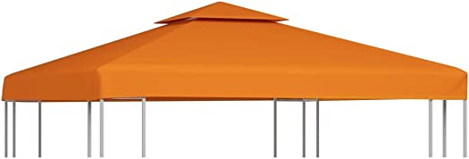 vidaXL Toldo de Cenador Repuesto Tela Impermeable Terracota 3x3m ...