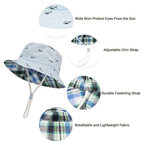 Baby /& Toddlers Adjustable Chin Fastening Bucket Style Summer Sun Beach Hat