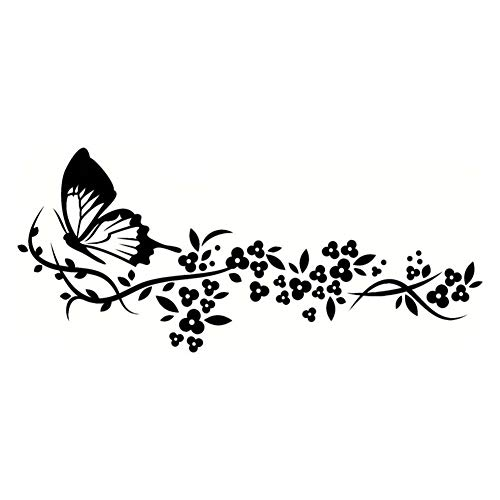 Floralby Car Stickers, Flying Butterfly Flower Auto Car Door Window Styling Sticker Decals Decor ()