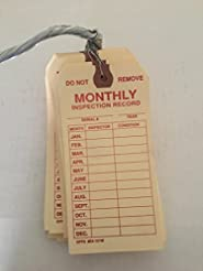 Brooks Wired Monthly Inspection tag 50 P...