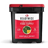 Wise Company ReadyWise, Emergency Food Supply, Freeze Dried Vegetables, 120 Servings