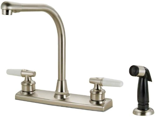 Hardware House 123419 Kitchen Faucet, Satin Nickel