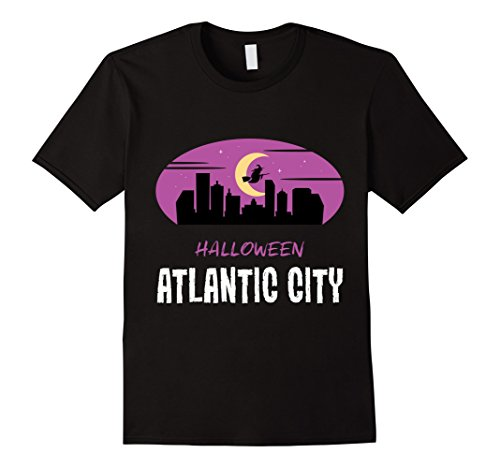Mens Atlantic City Hallowee Tee for Men Women Toddlers and Kids Small Black