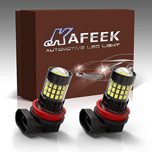 KAFEEK 2x Super Bright H11 H8 H16 LED Fog Light Bulbs 3020 Chipset with Projector for DRL or Fog Lights, - 2005 Manual Altima Owners Nissan