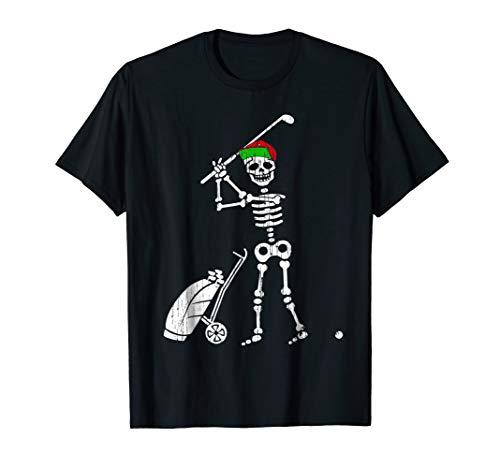 Funny Golf Skeleton Halloween Costume Gift Tshirt -