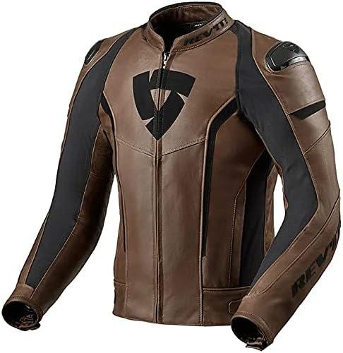 Revitsports Glide Vintage Motorcycle/Motorbike Leather Jacket BROWN-15