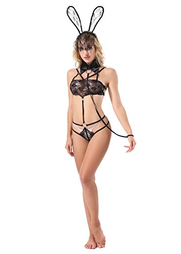 Iooho Women Sexy Lingerie Naughty Bunny Uniform Rabbit Outfit Cosplay (Bunny Outfit)