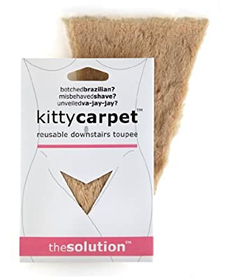 Fashion First Aid Women's Kitty Carpet Reusable Downstairs Toupee