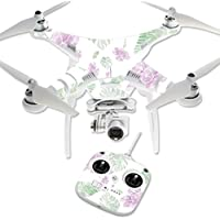MightySkins Protective Vinyl Skin Decal for DJI Phantom 3 Standard Quadcopter Drone wrap cover sticker skins Watercolor Flowers