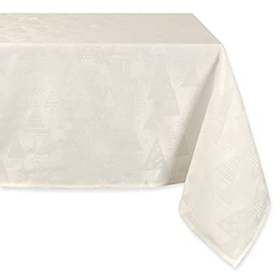 "DII Machine Washable, Dinner and Holiday Tablecloth 52 x 90"", Holiday Trees, Winter White, Seats 6 to 8 people - DII has a wonderful selection of holiday tablecloths to see you through every season Seats 6 to 8 people - see size chart in images to decide on size needed Perfect for the entire winter season, Christmas, dinners, parties, etc - tablecloths, kitchen-dining-room-table-linens, kitchen-dining-room - 41 GFgXRhNL. SS400  -"