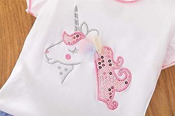 DXTON Toddler Girls Summer Dresses Short Sleeve Tutu Dress for 2-8 Years Girls