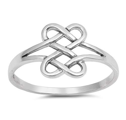 Cute Jewelry Gift for Women in Gift Box Glitzs Jewels 925 Sterling Silver Ring Celtic