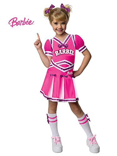 Barbie Cheerleader Costume, Medium (Cheerleader Costume Girls)