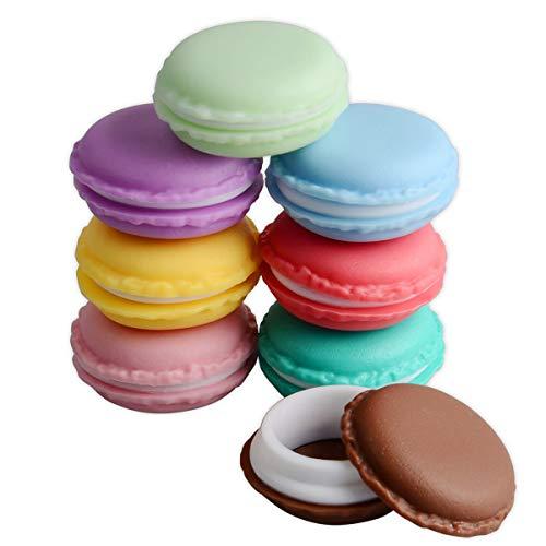 Macaron Case, Mini Macaron Box, Coolrunner Macaron Jewelry Box, Macaron Cute Pill Box, Colorful Macaron Jewelry Storage Box, Shape Storage Box Candy Cute Pill Organizer Case Container(Small 8 pcs)