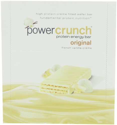 Мощность Crunch Protein Energy Bar Orignal, французский Vanilla Creme, 1,4-Унция Бар (в упаковке 12)