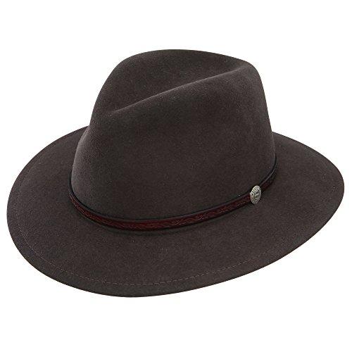 (Stetson & Dobbs TWCMWL-8824 Men's Cromwell Downturn Hat, Mink - M)