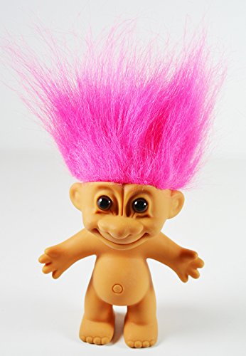 Troll Doll Naked with Pink Hair by Russ 4.5