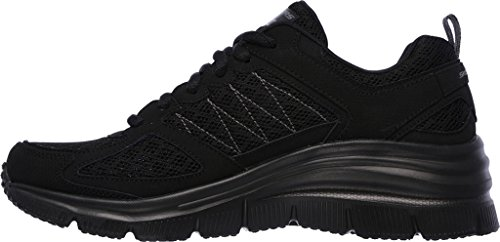 Skechers Damenmode Fit Not Afraid Sneaker Schwarz