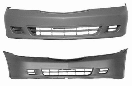 CPP Primed Front Bumper Cover Replacement for 1999-2004 Honda Odyssey