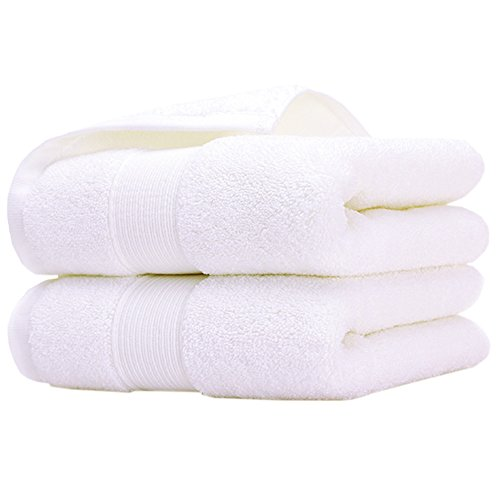 Initial Monogram Hand Embroidery (Pidada 100% Cotton Hand Towels Soft Highly Absorbent Luxury Towel for Bathroom 14 x 30 Inch Set of 2 (White))