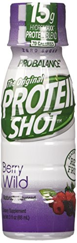 ProBalance The Original Protein Sport Drink Shot, Berry Wild, 24 Count, 3 Fl Oz