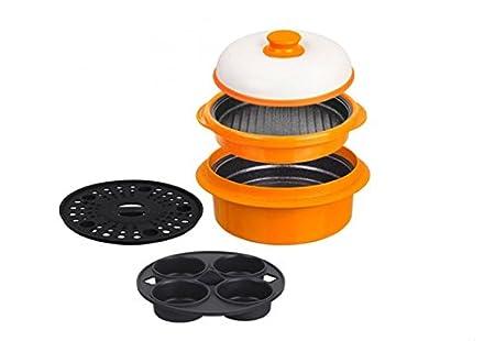 Fácil, rápida, sana microondas parrilla para cocinar, hervir ...