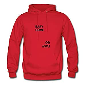Customizable Easy Come Easy Go Cotton Women Chic X-large Sweatshirts Red