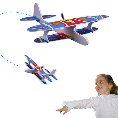 Ziwing Airplane Toys - Foam Glider Plane with Electric Motor for Kids Outdoor Throwing and Flying - Model Airplanes Kits to Build a Engineering Toy Airplane - Great STEM Toy Gift (Model Plane Motor)
