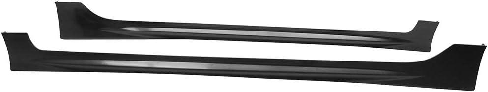 PP Black Side Bottom Line Extension by IKON MOTORSPORTS Side Skirts Fits 2006-2011 HONDA CIVIC 4 DOOR SEDAN 2007 2008 2009 2010