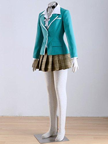 WS_COS Rosario to Vampire Yokai Private Academy Uniform Akashiya Moka Set 2XL