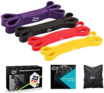 KMM Pull up Resistance and Assist Bands, Workout Bands   Powerlifting Bands,Mobility Stretch Bands,Exercise Band for Body Fitness Training,Chin Ups, Stretch