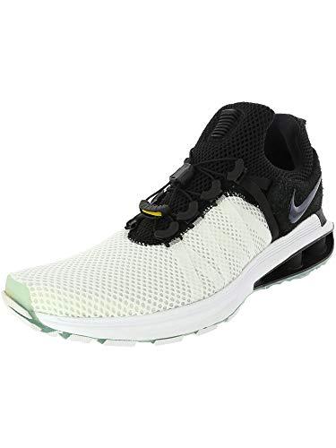 new styles 92595 1197d NIKE Men s Shox Gravity White Black White Nylon Running Shoes 10 (D)