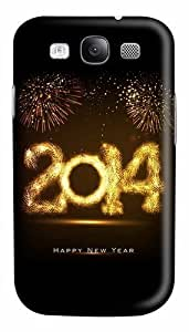 2014 Happy New Year Fireworks Custom Polycarbonate Hard Case Cover for Samsung Galaxy S3 SIII I9300