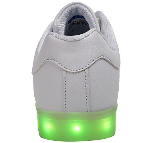 eslla Unisex Adult Light up Shoes Men & Women LED Color Changing Light Shoes