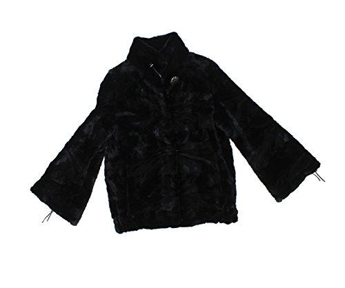 Bergama 811360 New Black Sheared Mink Fur Sections Jacket Coat Stroller M
