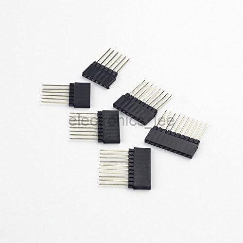 10PCS 8 Pin 8P 2.54mm Single Row Female Straight Header Pin Strip