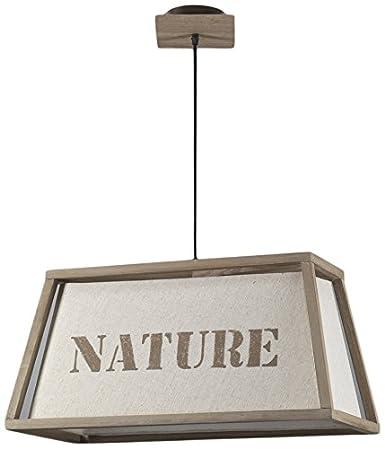 onli Nature lámpara de techo E27, Marfil, 60 x 30 x h 105 cm ...