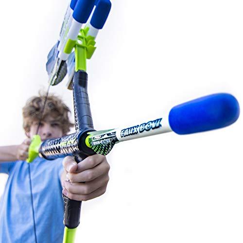 FAUX BOW – Shoots Over 100 Feet – Foam Bow & Arrow Archery Set (Lizardite)