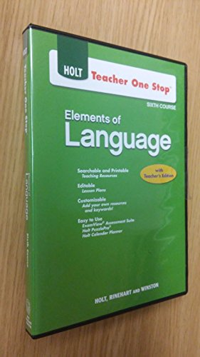 Teacher One Stop, 5th Course: Elements of Language with Teacher's Edition (Holt Elements Of Literature Fifth Course Teacher Edition)
