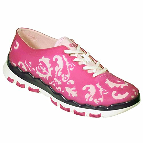 Ccilu Baro Women's Rubber Floral Fashion Sneakers Shoes Pink Size 9